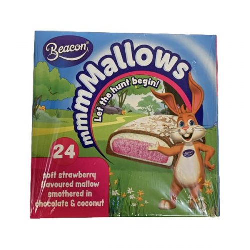Beacon Marshmallow Eggs Strawberry 24 X 17g
