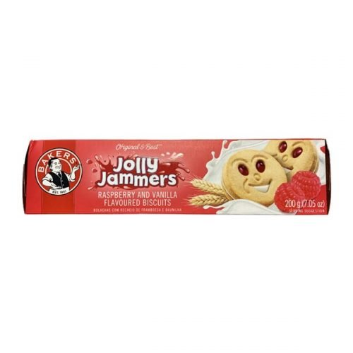 Bakers Jolly Jammers Raspberry 200g pack