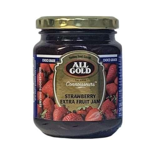 All Gold Connoisseurs Jam Strawberry Extra Fruit Jam 320g jar