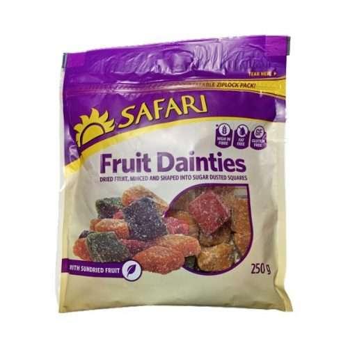 Safari Fruit Dainty Cubes 250g pack