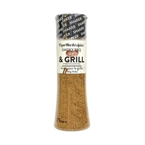 Cape Herb and Spice Tall Shaker Seasoning Smoky BBQ & Grill 265g bottle