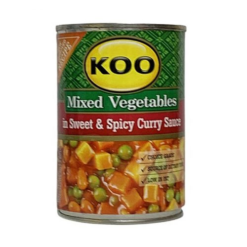 Koo Mixed Vegetables in Sweet & Spicy Curry Sauce 420g Can