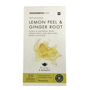 Woolworths Infusions lemon Peel & Ginger Root 20's
