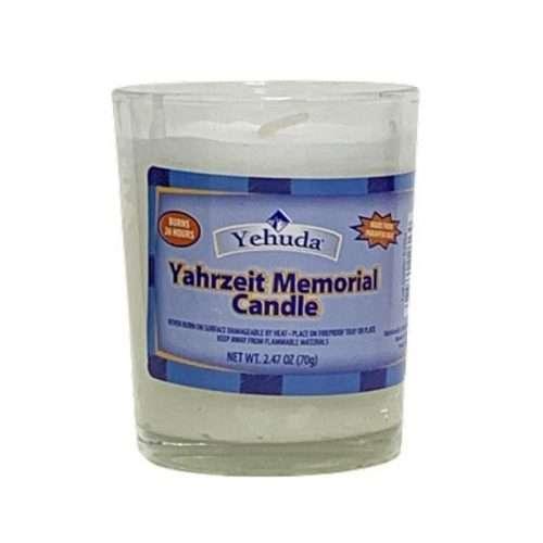 Memorial Candle Yehuda glass